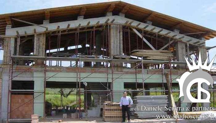 bioedilizia: villa con il tetto in legno