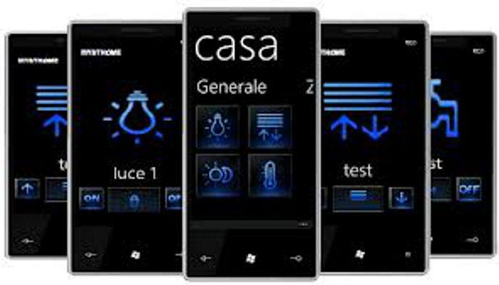 domotica: gestione da Smartphone con schermate semplificate
