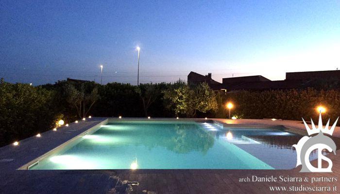 Progetto piscina con oasi idromassaggio