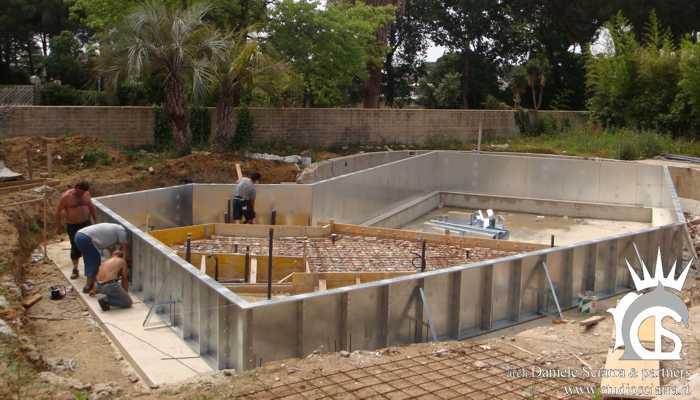 progetto piscina idromassaggio con spiaggia
