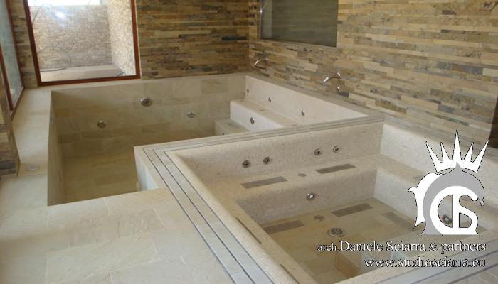 progetto vasca idromassaggio in villa