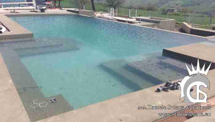 progetto piscina idromassaggio in villa