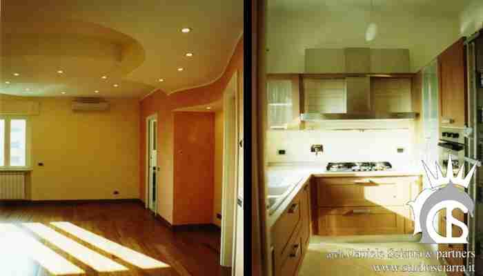 Il soggiorno e la cucina