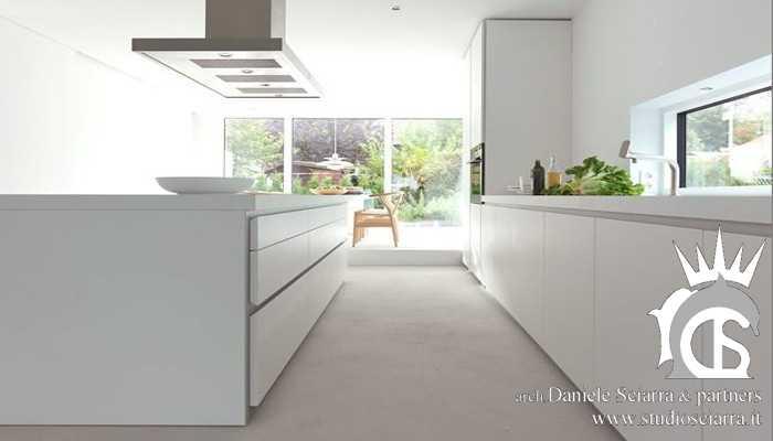 Progettazione cucine con isola centrale