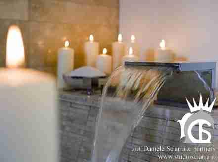 cascate e giochi d'acqua centro benessere bioedilzia progetto albergo bioedilizia hotel progettazione albergo bioedilizia hotel