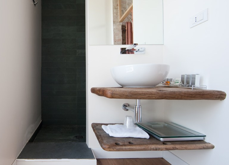 arredamento bagno zen: mobile bagno vintage zen in legno white ... - Arredo Bagno Giapponese
